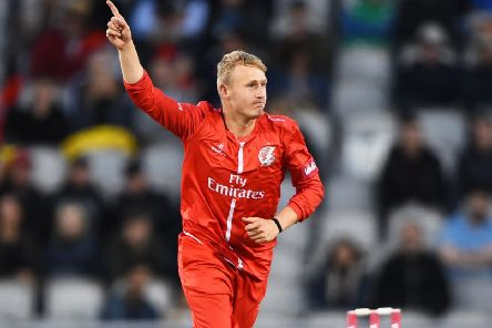 Lancashire bowler Matt Parkinson had something to celebrate with five wickets             Picture: Getty Images