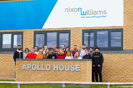 The Nixon Williams team outside their new offices in Blackpool