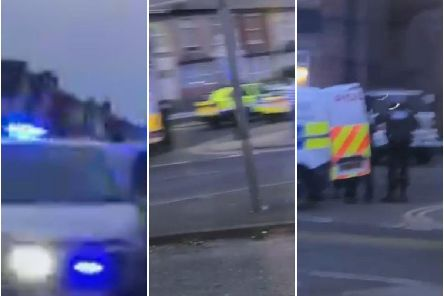 Police on Talbot Road this evening