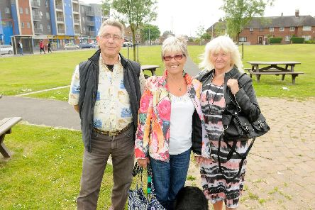 Bruce Allen with his wife Ann (centre) and Shirley Matthews