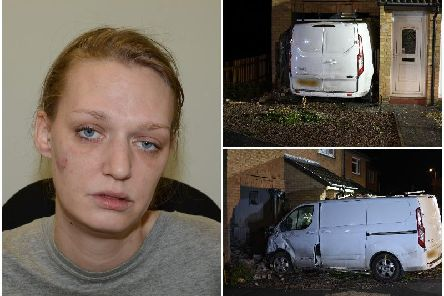 90-year-old Joan Woodier, died after Tracy Bibby (pictured), 35, had been 'showing off' before she lost control of the Ford Transit and it smashed through the front of her home in Clevedon, north Somerset.
