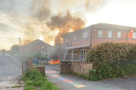 Arson attack at Grange Park children's centre. Picture by Nicola Shaw