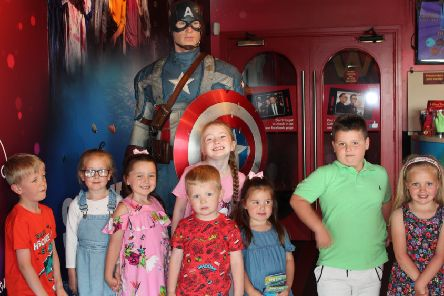 Madame Tussauds Blackpool opened exclusively on 23/6/2019 to welcome the winner of its Marvel sleepover competition, seven year old Jacob Horner along with 20 of his friends and family, for the ultimate party with super hero stars.'Picture provided by Madame Tussauds