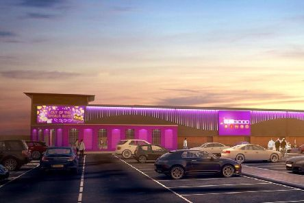 An artists impression of how the new bingo hall will look