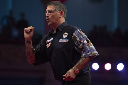 Gary Anderson won on Saturday night     Picture: Lawrence Lustig/PDC
