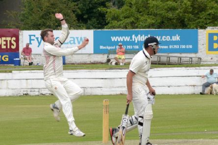 Blackpool's Matt Grindley enjoyed his best bowling return in the Northern Premier League