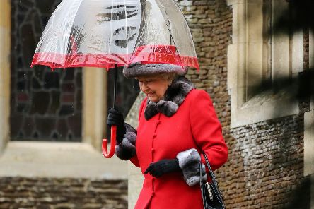 Queen Elizabeth II leaves the morning Christmas Day service at St Mary Magdalene Church on the Sandringham estate in Norfolk.