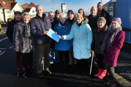 St Anne's Road residents presenting their petition earlier in the year