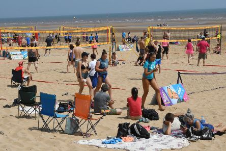 The Active Coast Programme of events, which includes beach volleyball, is now underway.