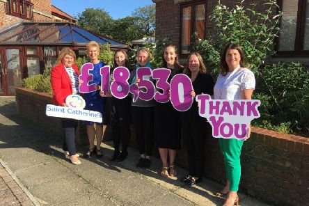 L to r, Debbie Kay (Saint Catherines fundraising team leader), Catherine McNeill (Thorpe & Co), Laura Carter (Pearsons & Ward), Fiona Mullane (Tubbs & Co), Jessica Walker (Tubbs & Co), Tracy Murray (Pinkney Grunwells), Tracy Calcraft (Saint Catherines income and business services director).