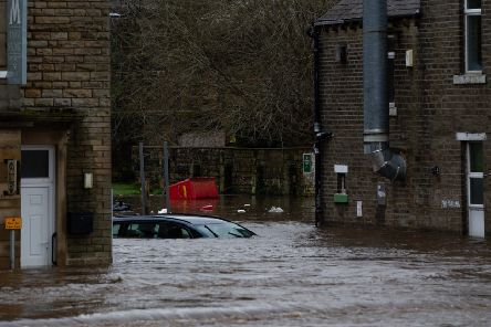 Flooding in Mytholmroyd