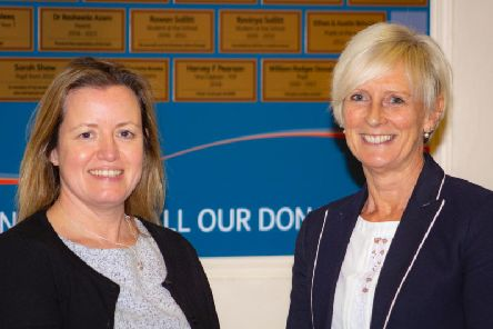 Junior Head Mrs Sarah Weller and Senior Headteacher Mrs Jackie Griffiths