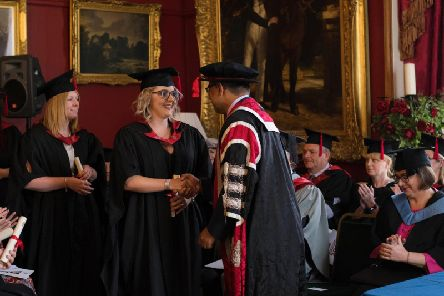 Students are congratulated in the ceremony at Towneley Hall