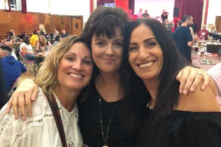 Friends Lynne Uttley (centre) Amanda Fleming (left) and Nicola Hunt get into the spirit at the Padiham Beer Festival.