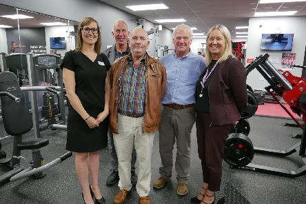 Pendle Leisure Trust assistant manager Samantha Lamb, trustees Paul Wilson, Bernard Swarbrick, Nigel Standige and chief executive Alison Goode.