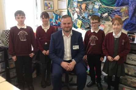 Pendle MP Andrew Stephenson at Holy Trinity RC Primary School