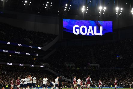 A sadly all to familiar sight at the Tottenham Hotspur stadium this afternoon