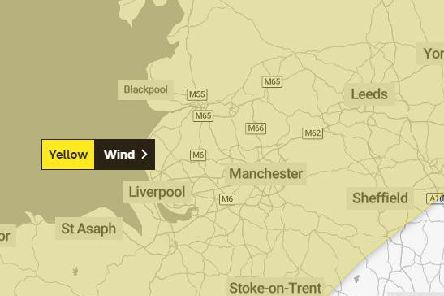 Met Office issues yellow weather warning - predicting 60-70 mph winds across Lancashire