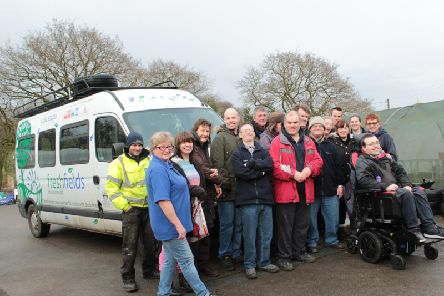 Staff and service users of charity Freshfields are on a mission to buy a new minibus.