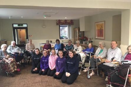 Residents at the Grove Care Home wait to be entertained by members of Burnley Dance Centre.