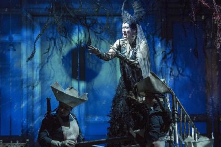 Samantha Hay as Queen of the Night in Opera North's The Magic Flute at The Lowry. Picture by Alastair Muir. (s)