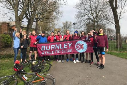 Some of the parents from Burnley Athletics Club after their ride