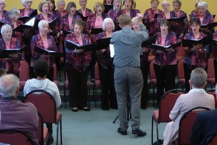 The Nelson Civic Ladies' Choir entertains at Mount Zion Church in Cliviger.