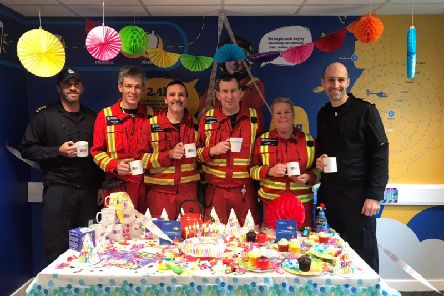 The North West Air Ambulance Charity islaunchingBrew with the Crewover the next few months to celebrate its20th birthday. (s)