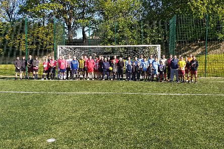 The charity fundraisers at their game to raise money for Mind.