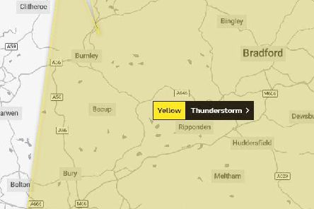 Met Office issue yellow thunderstorms weather warning for parts of Lancashire today