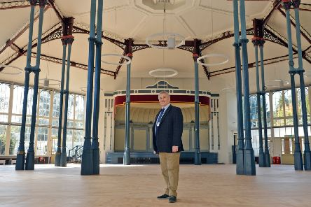 Councillor Tony Kemp in the Octagon hall, which reopens this week.