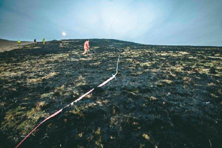 The fire affected six hectares of moorland in the grounds of Lyme Park in Disley. Photo: Cheshire Fire & Rescue Service.
