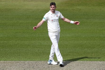 Jimmy Anderson - on top form against Derbyshire on day one.