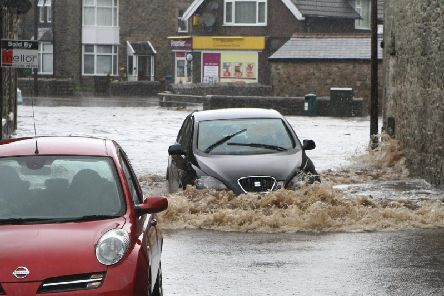 Heavy rain led to flooding in the Lightwood Road area of the town