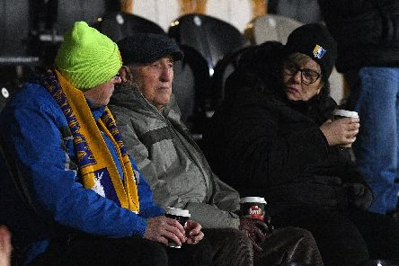 Stags fans at the Burton game.