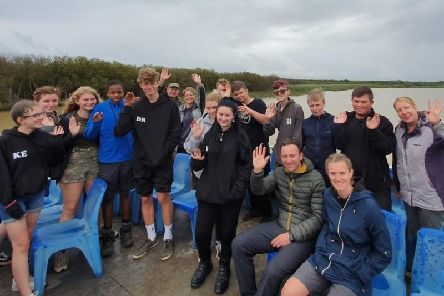 The Shirebrook students were in South Africa for ten days.