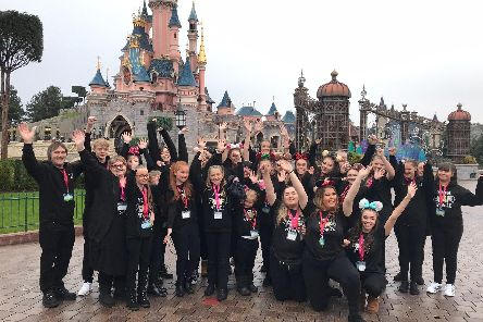 Members of the Star and Stage Musical Theatre Group pictured at Disneyland Paris. Image: Diane Noke.