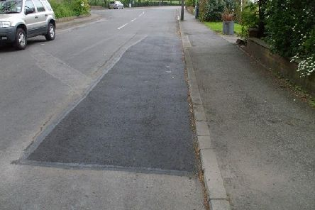 An example of what the new pothole machinery can do.