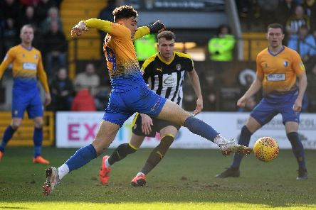 Tyler Walker in action at Notts.