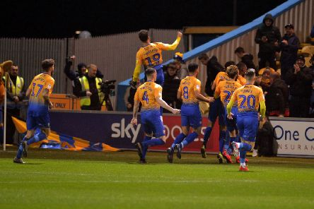 Mansfield Town v Lincoln City.'Stags take an early lead.