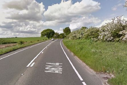 A614 at Oxton. Pic: Google Images.