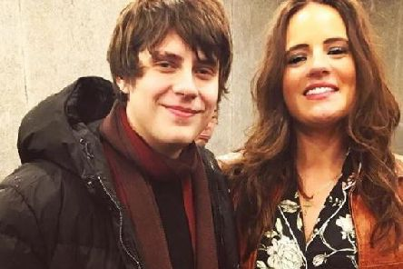 Georgie with Jake Bugg.