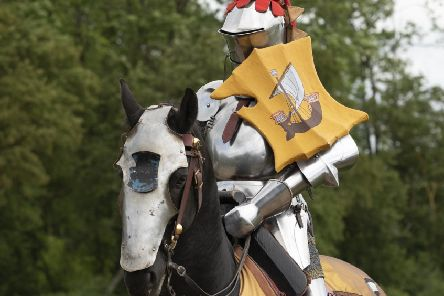 Legendary joust at Bolsover Castle. Photo by Chris Boulton, English Heritage Trust.