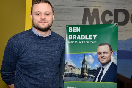 Ben Bradley at another constituency surgery.