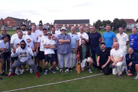 Players from Huthwaite Old Boys and Sutton Old Boys took part in the game.