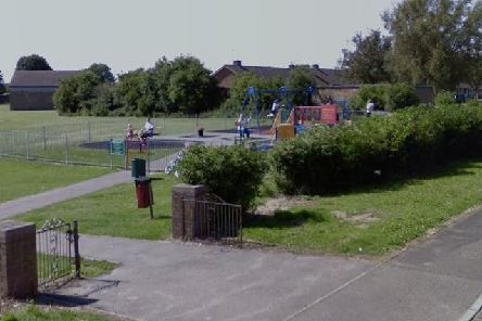 The play area, on Recreation Close, Clowne.