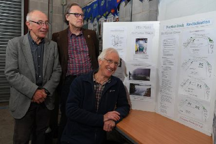 Dave Smith, Prof Ted Smith and David Crawshaw are spearheading the community-led action to revitalise the docks clean-up.