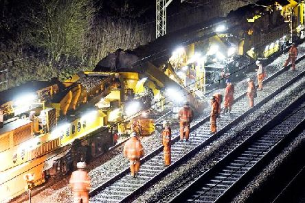 """Network Rail will be carrying out """"essential upgrades"""" in the coming months including a major track overhaul on Euxton Junction. (Credit: Network Rail)"""