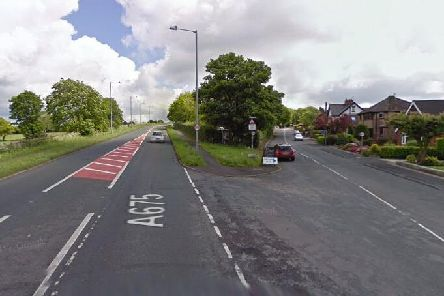 The junction of The Straits and Station Road in Hoghton