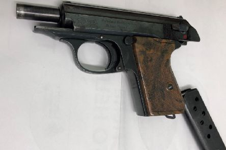 The Walther PPK is favoured by fictional spy James Bond. Inset: the AK-47